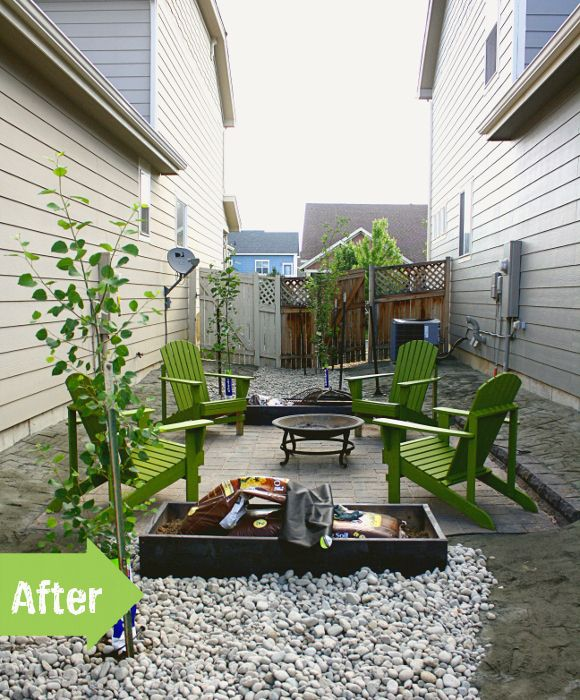Side And Backyard Idea: Small Space Before And After Makeover. A Good Neighbor