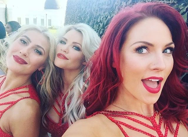 Emma Slater, Witney Carson, and Sharna Burgess