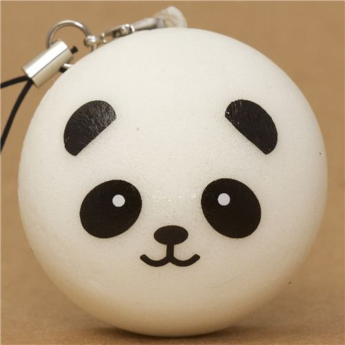 Squishy Bun Diy : panda bear bun squishy cellphone charm kawaii Cute Squishes Pinterest The o jays, Panda ...