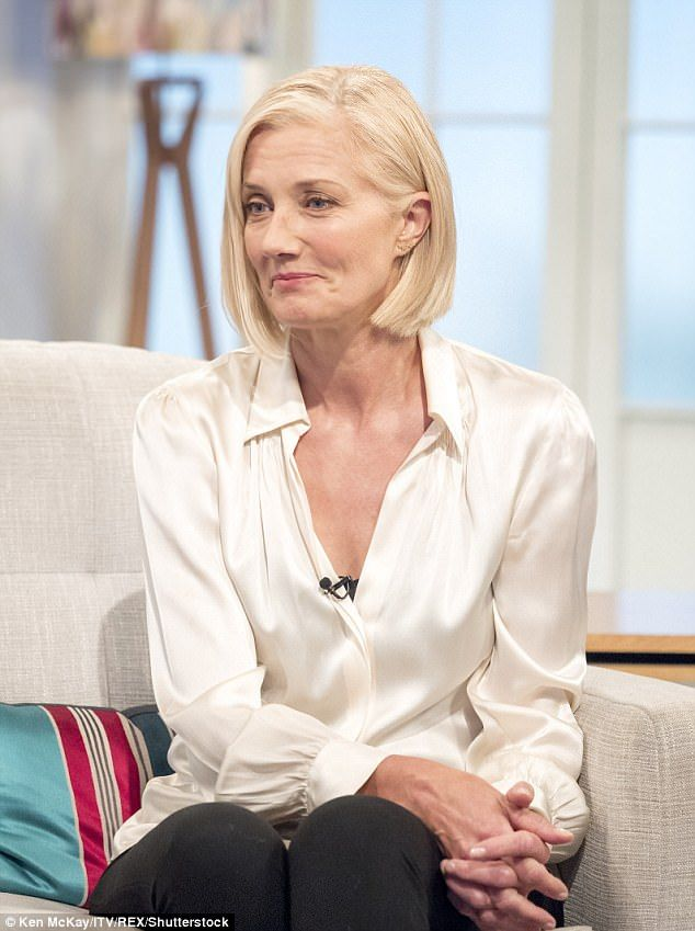 Emotional: Joely Richardson, 52, broke down on Lorraine on Tuesday as she discusses taking...
