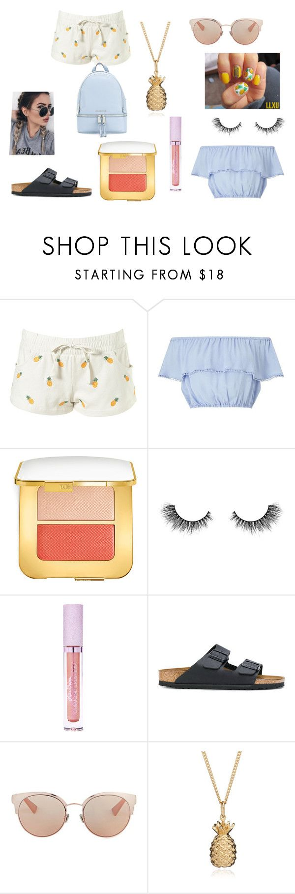 """""""summer wishes"""" by graciea1289 ❤ liked on Polyvore featuring Miss Selfridge, Tom Ford, Artémes, Lime Crime, Birkenstock, Christian Dior, Rachel Jackson and MICHAEL Michael Kors"""