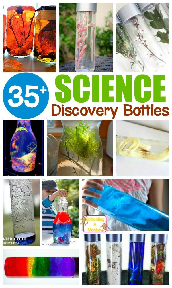 Science lessons don't have to be complicated! These simple science discovery bottles make it easy to learn about science in a hands-on, mess-free way!