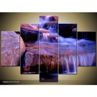 Fátyolvízesés vászonkép 150 x 105 cm 5 részes