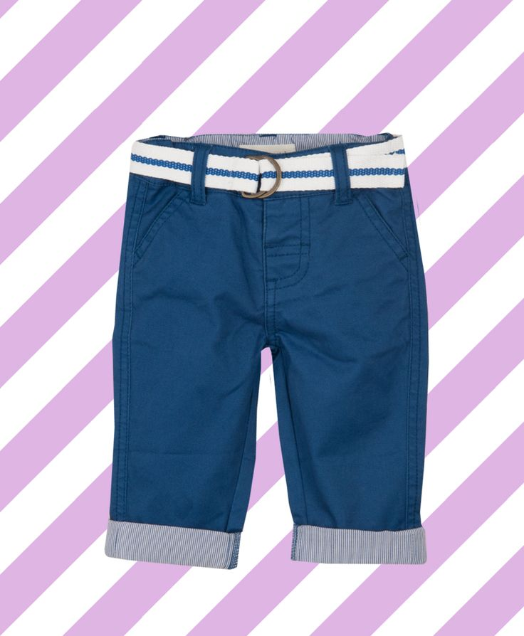 Pumpkin Patch Belted Chinos - available in sizes 0-3m to 18-24m http://www.pumpkinpatchkids.com