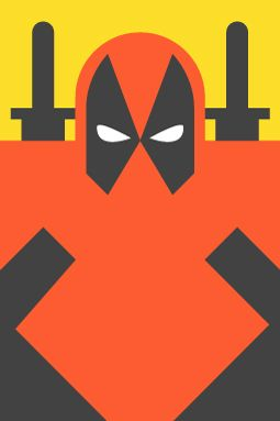 Pop Culture Icons Form & Co - Deadpool -Re-Vision is an exercise in style and synthesis of different cultural icons. It is a series of portraits of the most representative of the world of comics, movies, television, sports and music. Here it is Super Heroes