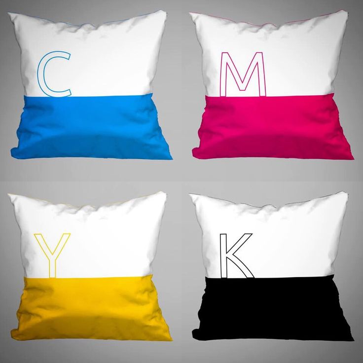 CMYK for Designers 4 Cushions / Pillows 45x45 each - (without Filling) by magicdallas on Etsy https://www.etsy.com/listing/249700730/cmyk-for-designers-4-cushions-pillows