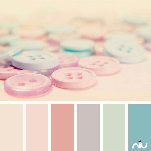 pastel buttons (object)  I love this color palette.