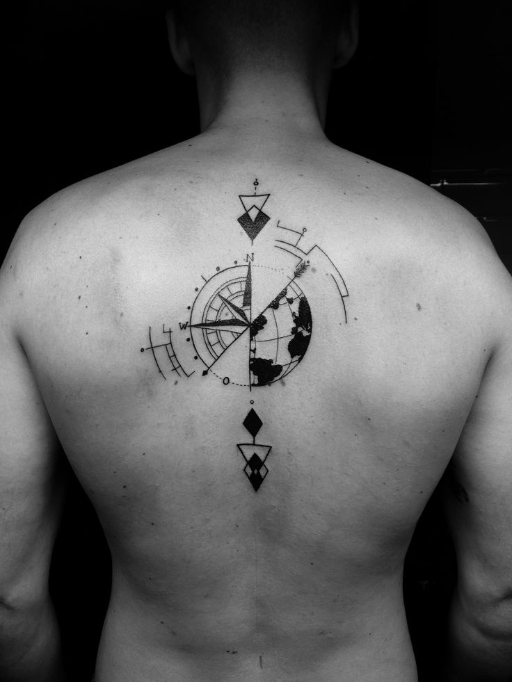 Compass arrow tattoo