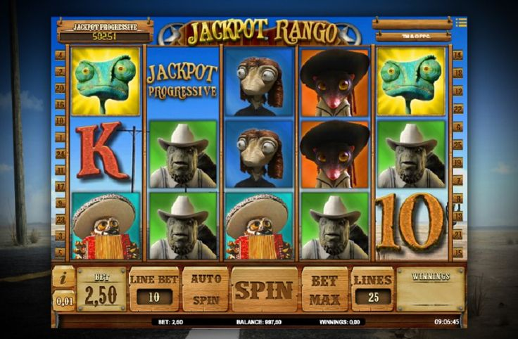 Jackpot Rango automat zdarma. Najdete zde množství symbolů z filmu, které se stanou zajímavým přínosem vašich hracích účtů. Automat si můžete vyzkoušet zahrát zdarma, neboť disponuje progresivním jackpotem, užívejte si každé jeho roztočení online. #JackpotRango #automatonline #zdarmaroztočení