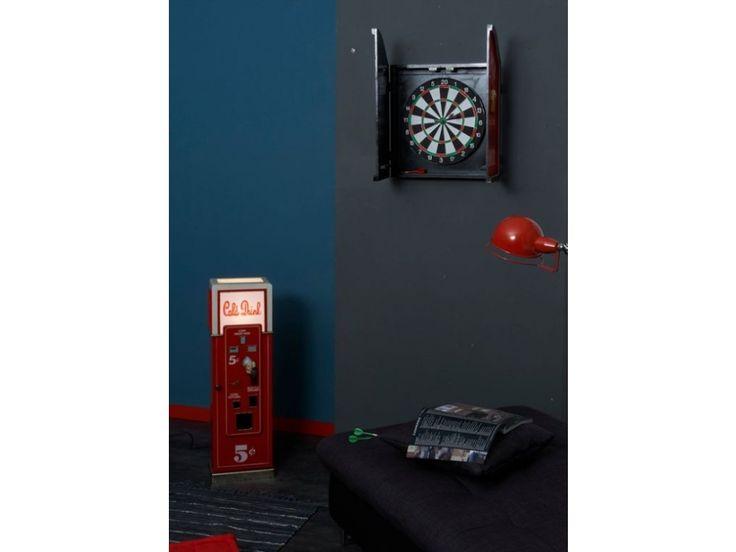 Lampe de décoration et range-CD COLD DRINK - 88cm - coloris rouge