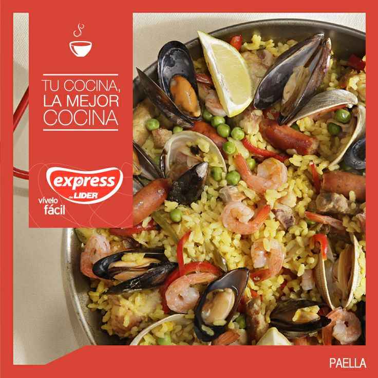 Paella #Recetario #Receta #RecetarioExpress #Lider #Food #Foodporn #Mundial #España