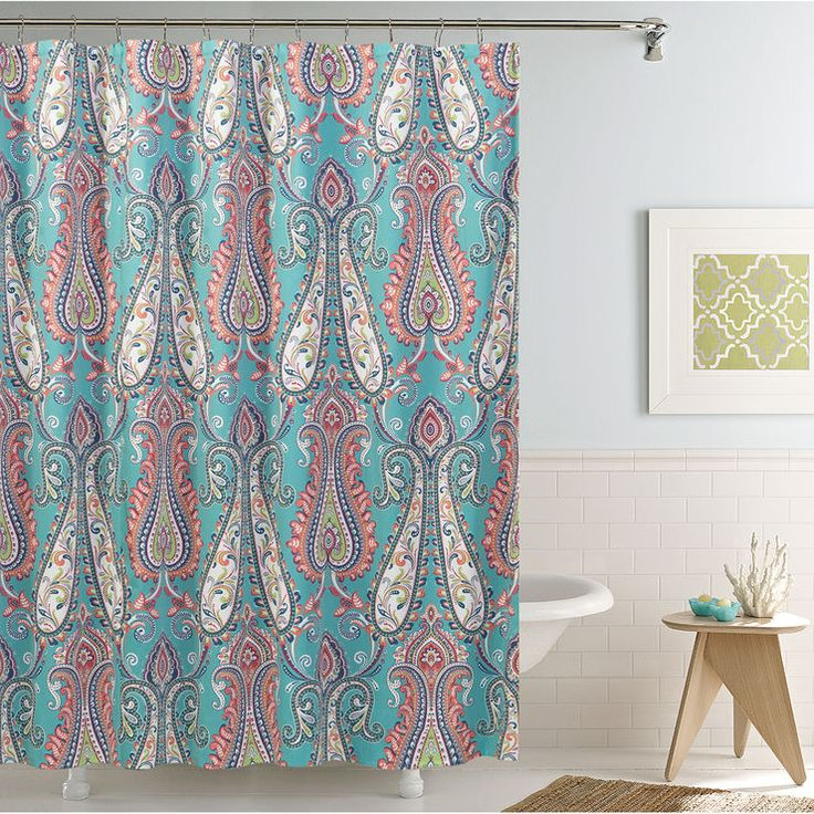 25 best ideas about coral shower curtains on pinterest