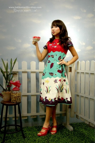batik amarillis's sweet 'A' dress