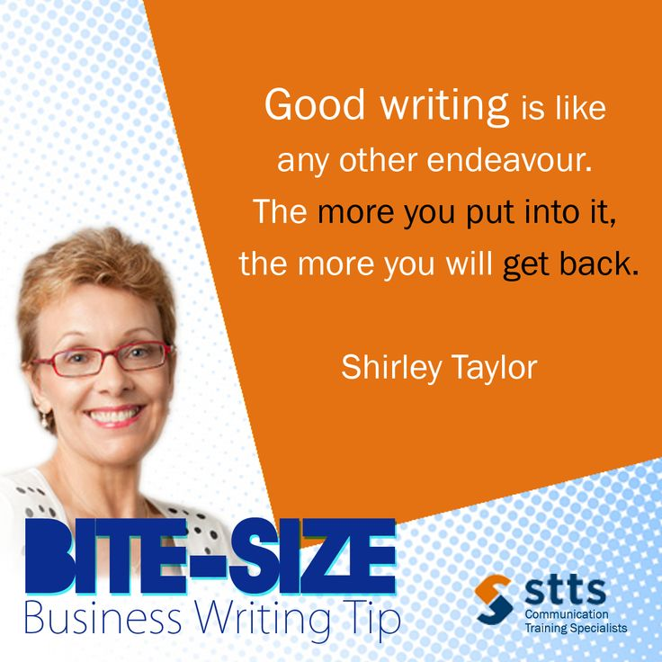 "Sign up for Shirley's first live webinar, ""Business Writing That Works."" Register here: http://www.sttstraining.com/edm/20150908_pbws/edm.html"