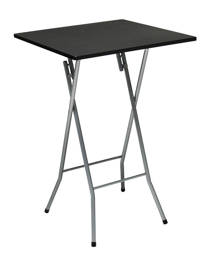 Hopfällbart ståbord fyrkant i vitt och svart - Fixbordet