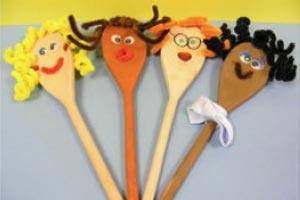 wooden spoon puppets for kids