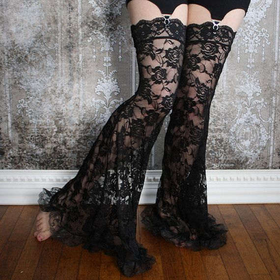 Come on... You know you want these. ;-) Up for grabs here is a set of legs for my garter pants in gorgeous lace with a pattern of roses. Perfect for