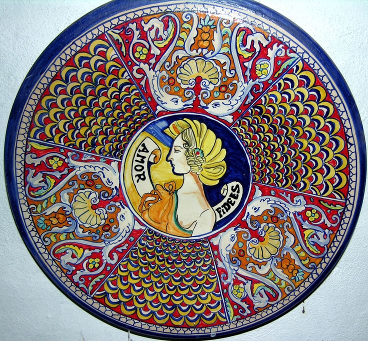 Piatti di ceramica artistica maiolica riproduzione  Deruta ceramiche artistiche - ceramica artistica