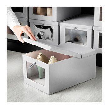 IKEA】の収納ボックス&バスケットでオシャレに、楽しく、賢く!お ... 並べると小窓がまるでショーウィンドウの様に見える、ふた付きBOX