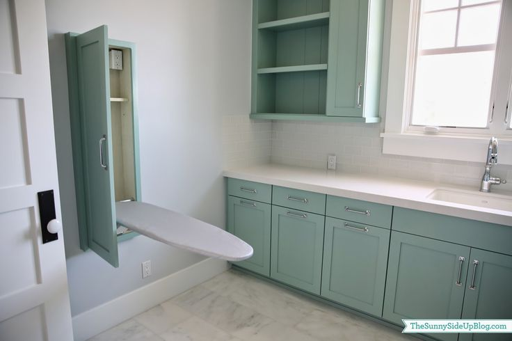 Built-in ironing board w. outlet + shelf for iron // Sunny Side Up Blog