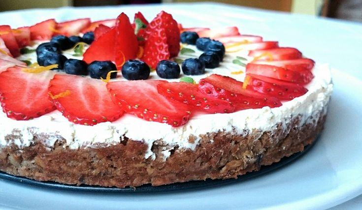 Tvarohový dort s ovesným korpusem