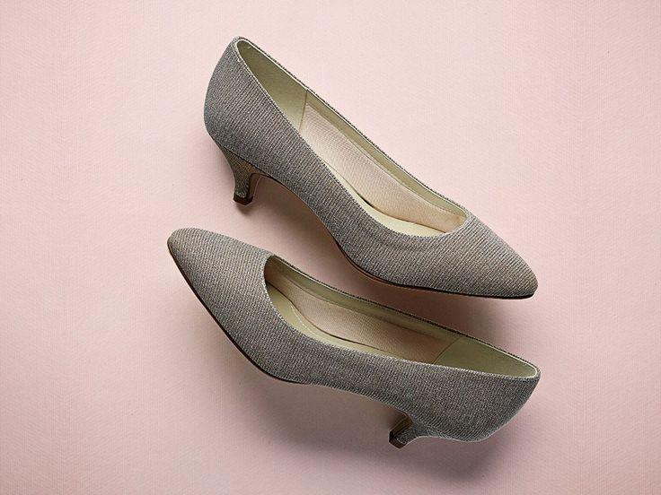 Winnie - Sparkly Metallic Court Shoes
