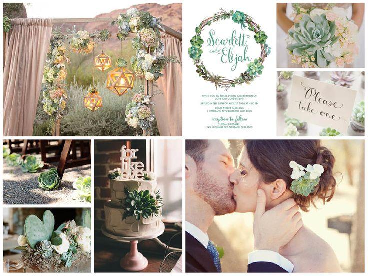 Ideas for your Succulent Woodland Boho wedding: https://www.etsy.com/au/listing/243227877/succulent-woodland-boho-printable-diy?ref=shop_home_active_2