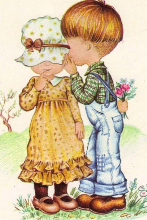 Открытка две куклы, рамаданом