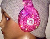 Dr Dre Beats Headphone Custom Made with Swarovski Element Pink  #1 Custom Beats Seller We BEAT Any Deal!!! 1700 Sales On Etsy  5 Star Rating
