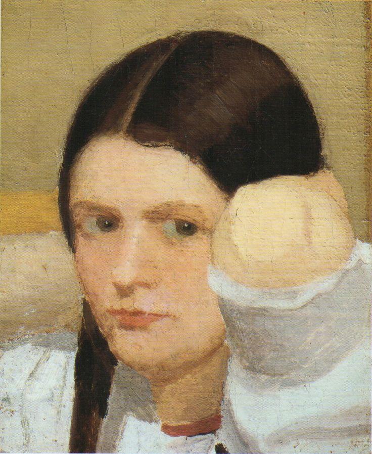 Oscar Ghiglia | Portrait of Isa, 1908, oil on canvas 25x21