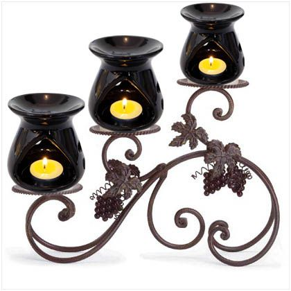 These Beautifully handcrafted black designed and stylish ceramic oil burner work with any decor . for use with our home fragrance oil . to elegantly scent and accessories your home.