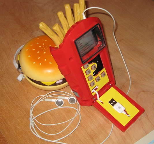 fry phone, ipod holder, and fry pod