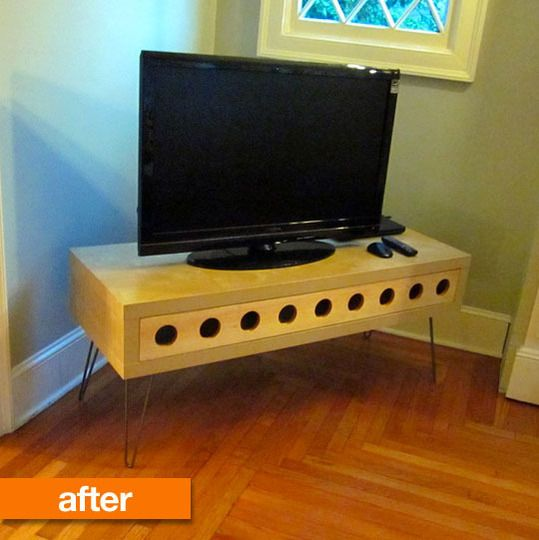 Before & After: IKEA LACK Space Age TV Stand IKEAhackers | Apartment Therapy