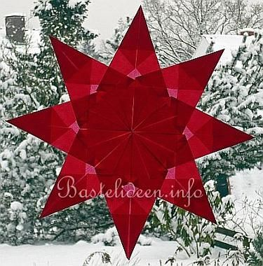 Basteln mit Kindern - Weihnachtsbasteln - Gefaltete Sterne 3