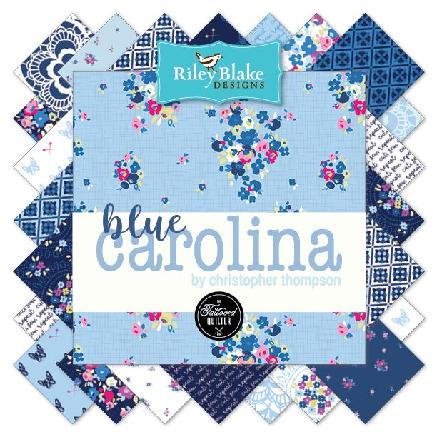 Blue Carolina designed by Christopher Thompson for Riley Blake Designs