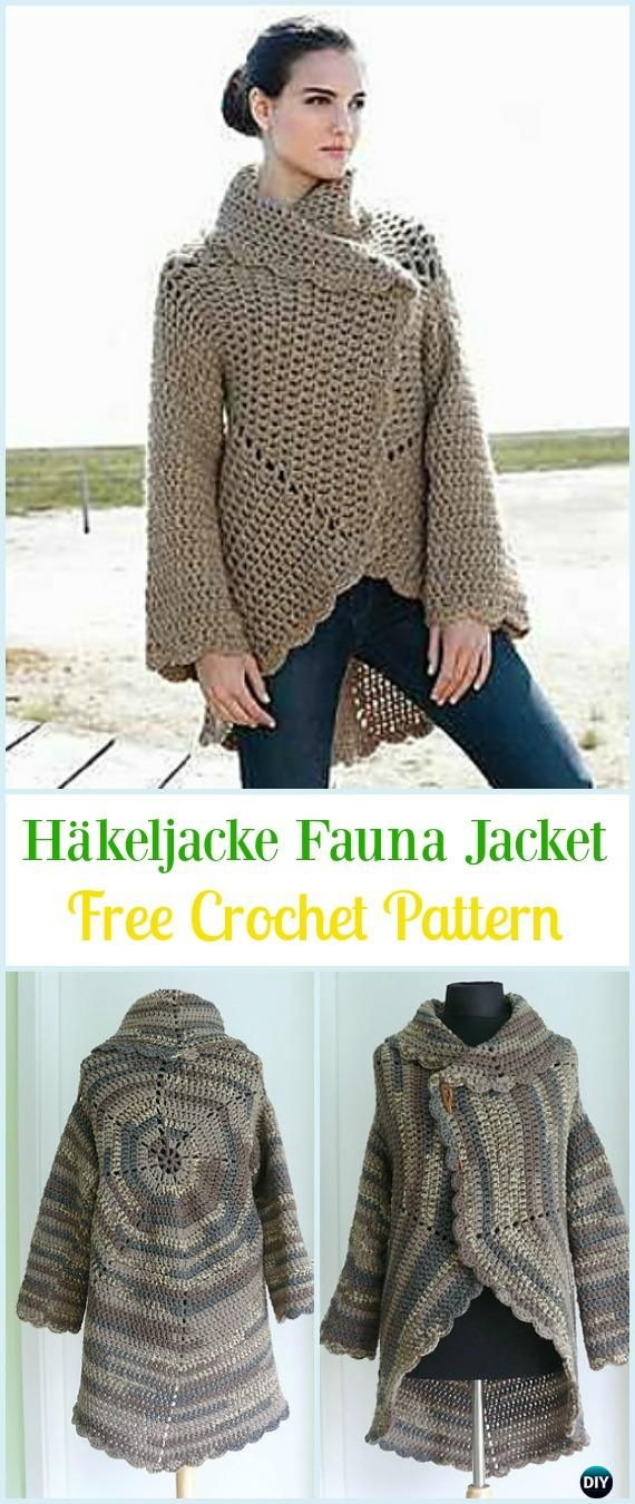 Crochet Häkeljacke Fauna Jacket Free Pattern - #Crochet; Circle Vest & Sweater #Jacket; Cardigan Free Patterns