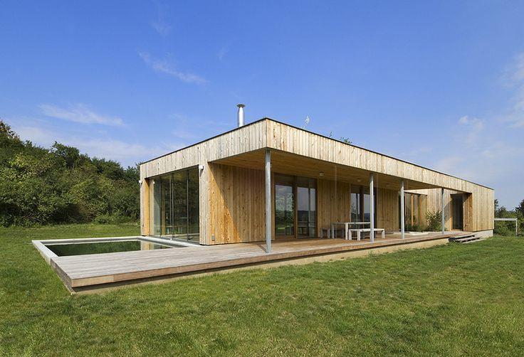 Modern Rectangular House Design Simplicity Style Idea