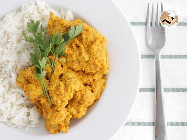 Pollo al curry y leche de coco, Receta Petitchef