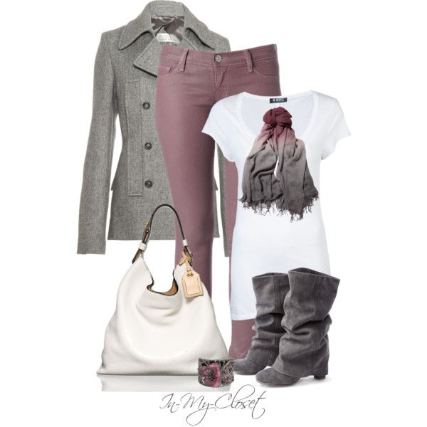 Casual+Outfits+for+Women+2013 | Casual Outfit Ideas | Pinks and Greys | Fashionista Trends