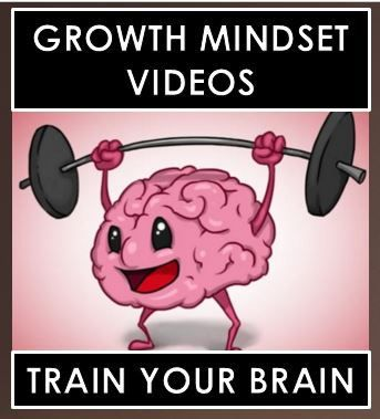 """Growth Mindset Video Clips - 7 video links that will help you teach your students how to """"train their brain""""."""