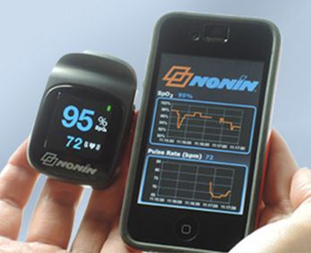 NoninConnect 3230 Bluetooth Smart Pulse Oximeter Pairs with iPhones, iPads (agosto 2015)