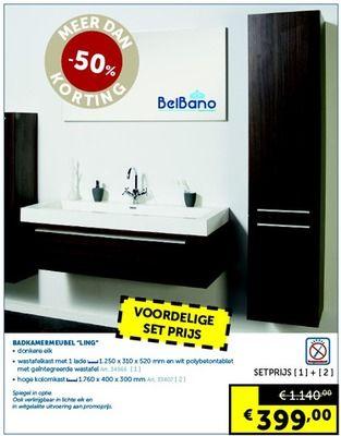 Badkamermeubel ling promotie - Zelfbouwmarkt - Belbano