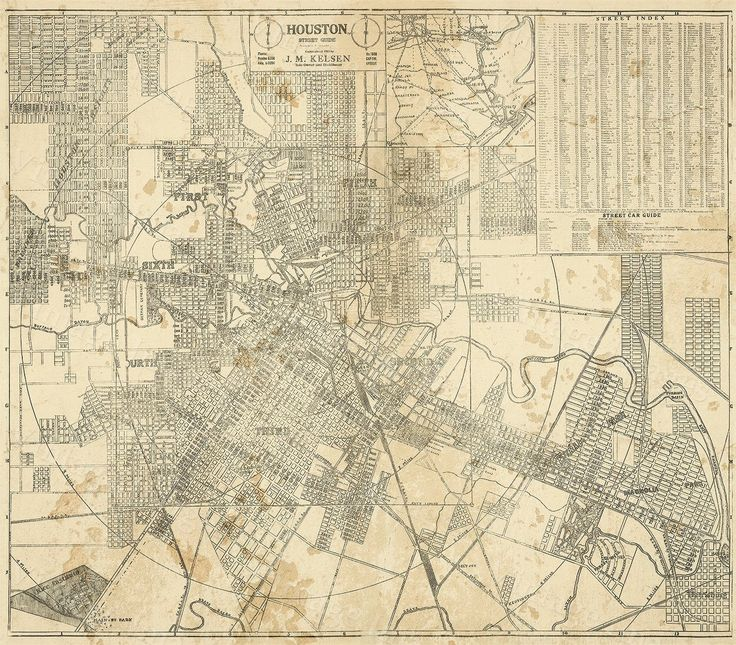 """HOUSTON Map, TEXAS Old Map of Houston, Houston TX, Houston city Map, Vintage Map, Old Texas City map, Map of Texas six sizes up to 43"""" x 49"""" by VintageImageryX on Etsy https://www.etsy.com/listing/225263101/houston-map-texas-old-map-of-houston"""