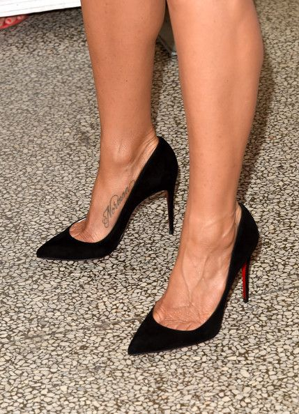 """Jennifer Aniston Photos Photos - Actress/executive producer Jennifer Aniston (shoe and tattoo detail) attends the """"Cake"""" premiere during the 2014 Toronto International Film Festival at The Elgin on September 8, 2014 in Toronto, Canada. - """"Cake"""" Premiere - Arrivals - 2014 Toronto International Film Festival"""
