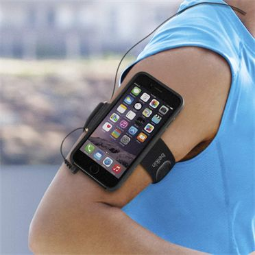 Clip-Fit Armband for iPhone 6 easily transfomrs from a case to an armband #belkinfit #workout #inshape #fitness