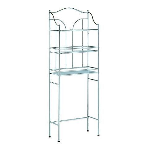 Utilize all the space you have in your bathroom with this 3-shelf metal space sa… – most beautiful shelves