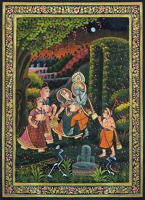 Krishna Embracing Radha