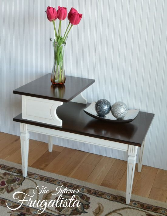 Worn Out Mid Century Modern Side Table Gets Chic Makeover by The Interior Frugalista via Prodigal Pieces www.prodigalpieces.com #prodigalpieces