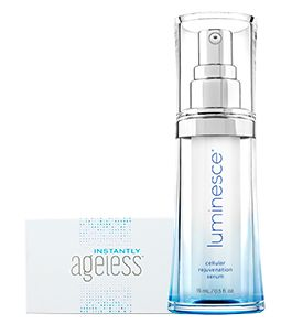 1 bottle of Luminesce rejuvenation serum at incredible price and you have 1 box of Instantly Ageless FREE. Available only in Canada until October 15, 2016