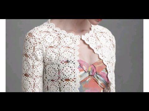 tutorial crochet como realizar chaqueta/cardigan con granny - YouTube